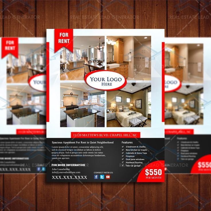 Real Estate For Rent Flyer X Template  Google Search