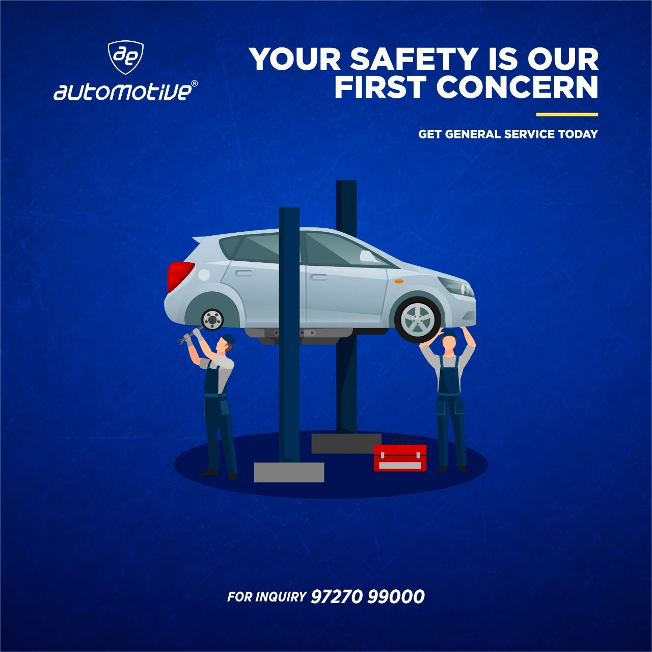 Stay alert so you don't get hurt. Your safety is our First