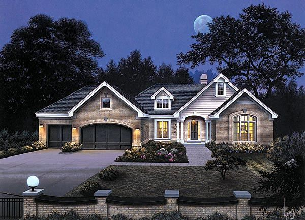 Traditional Style House Plan 87339 With 4 Bed 3 Bath 3 Car Garage Ranch House Plans House Plans House Plans And More
