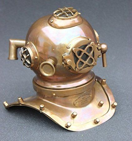 Amazoncom Nautical Antique Mini Deep Sea Divers Helmet Home