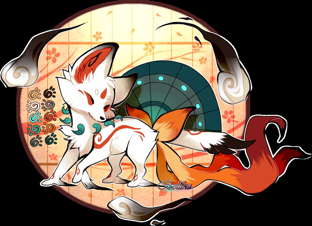 Картинки аниме лисы животные