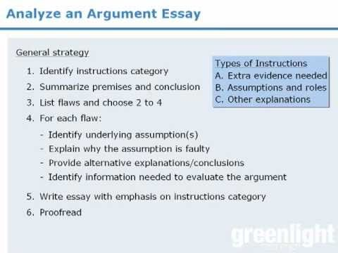 Gre analytical writing introduction to the argument essay