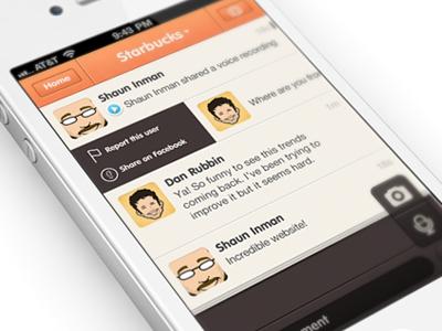 ChatCheckin design iPhone app   UI / UX  by Julien Renvoye