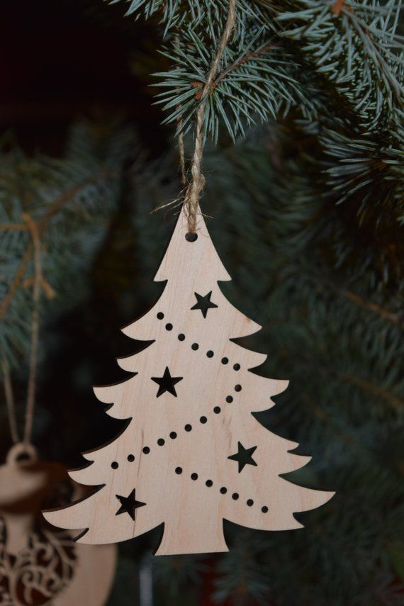 Wooden Christmas Tree craft shape embellishment Christmas Tree Craft Shape
