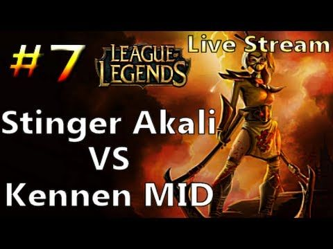 Kennen Mid live league of legends stinger akali vs kennen mid