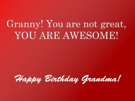 A Birthday Card For Your Grandmother