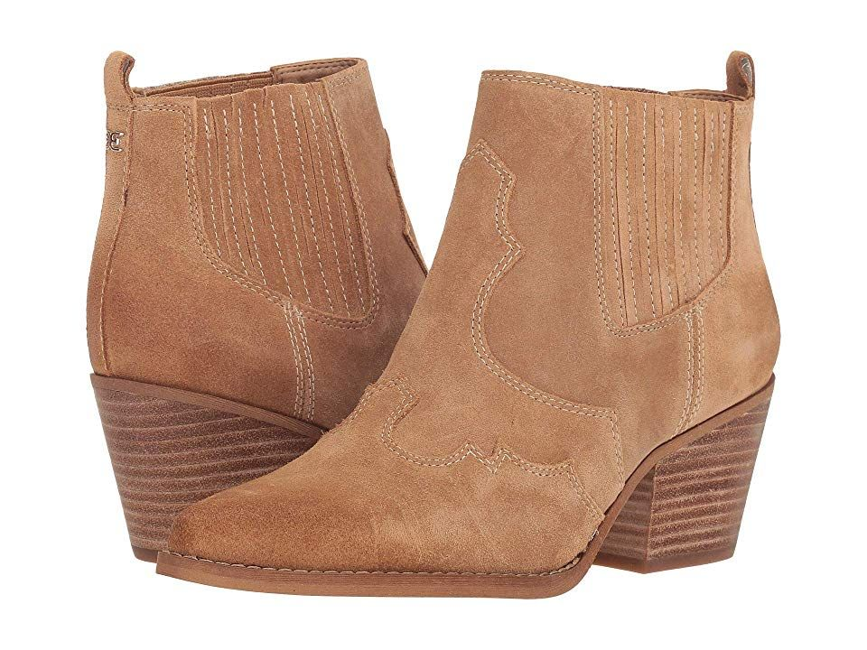 51893bb5d8b5 Heel · Ankle Booties · Sam Edelman Winona (Golden Caramel Velutto Suede  Leather) Women s Shoes. Get to line