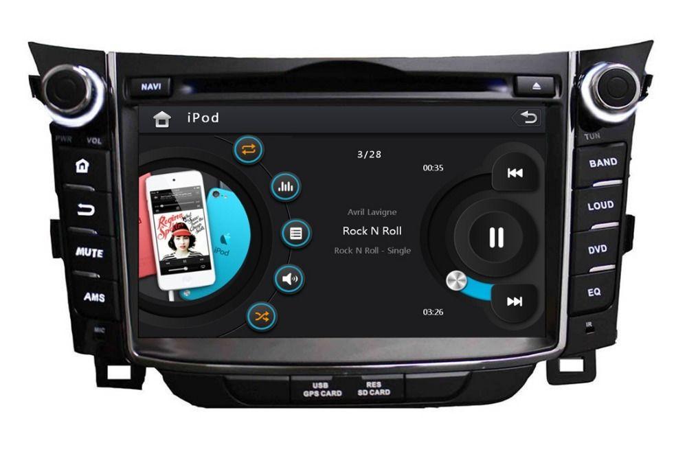 Hd 2 Din 7 Car Dvd Player For Hyundai I30 2011 2012 2013 2014 With Radio Gps Navigation Bluetooth Swc Tv Usb Aux In Car Dvd Players Gps Navigation Car Videos