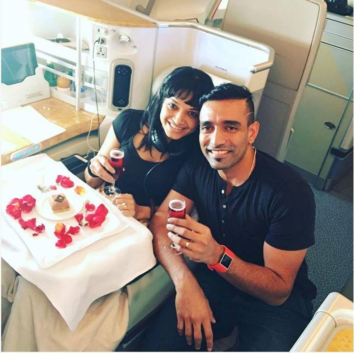 Robin Uthappa and his better half Sheetal Gautam during their honeymoon trip in Europe - http://ift.tt/1ZZ3e4d