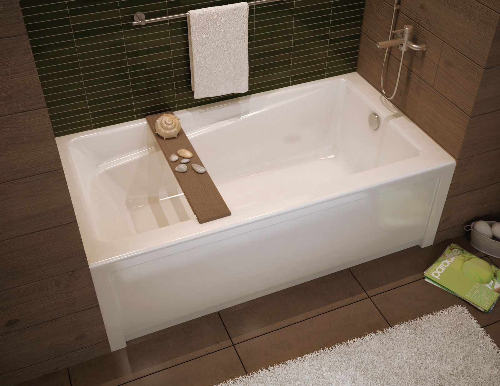 60 x 32 MAAX EXHIBIT SOAKER ALCOVE BATHTUB ACRYLIC MODERN DESIGN ...