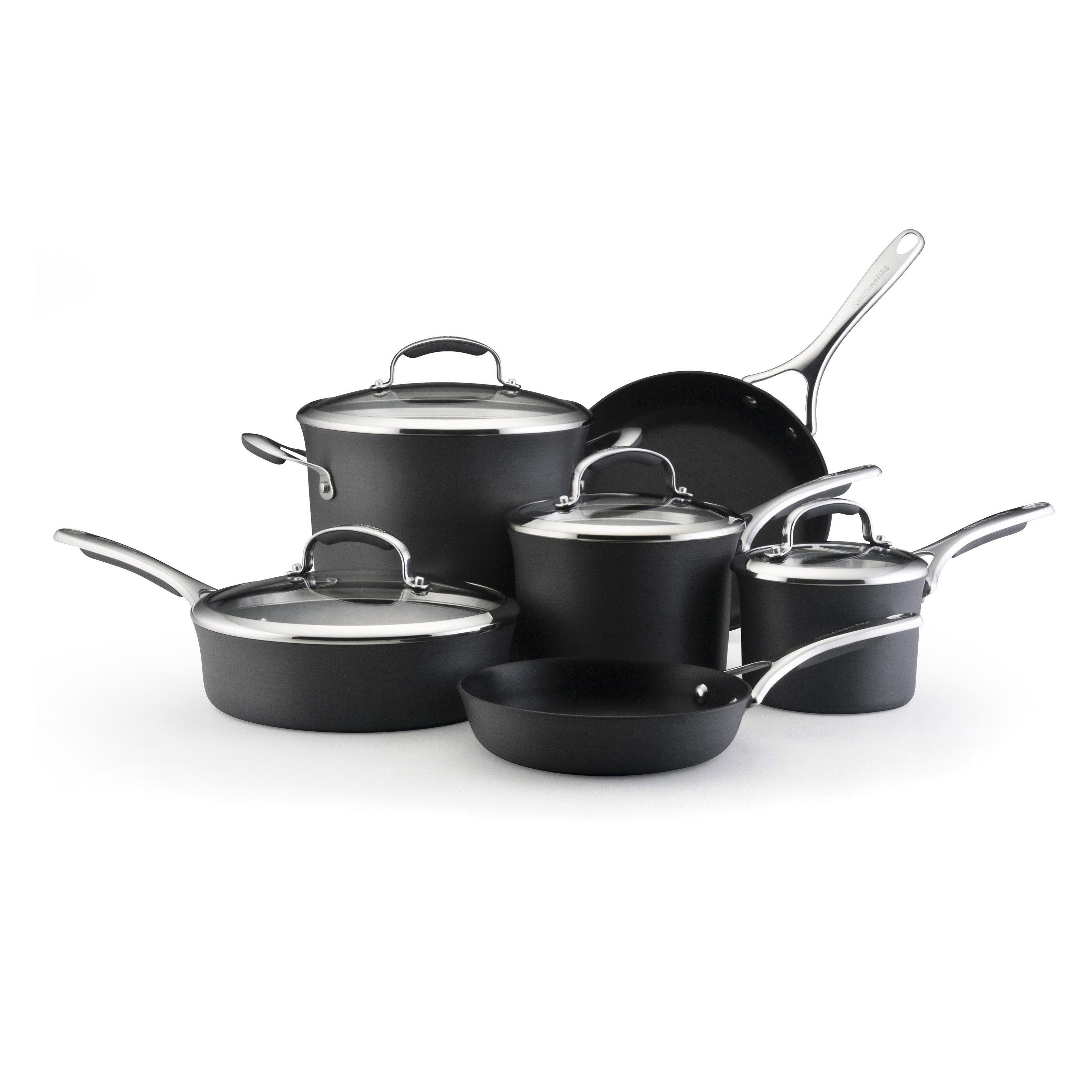 Have to have it. KitchenAid Gourmet Hard-Anodized Nonstick 10 Piece Cookware Set $179.99
