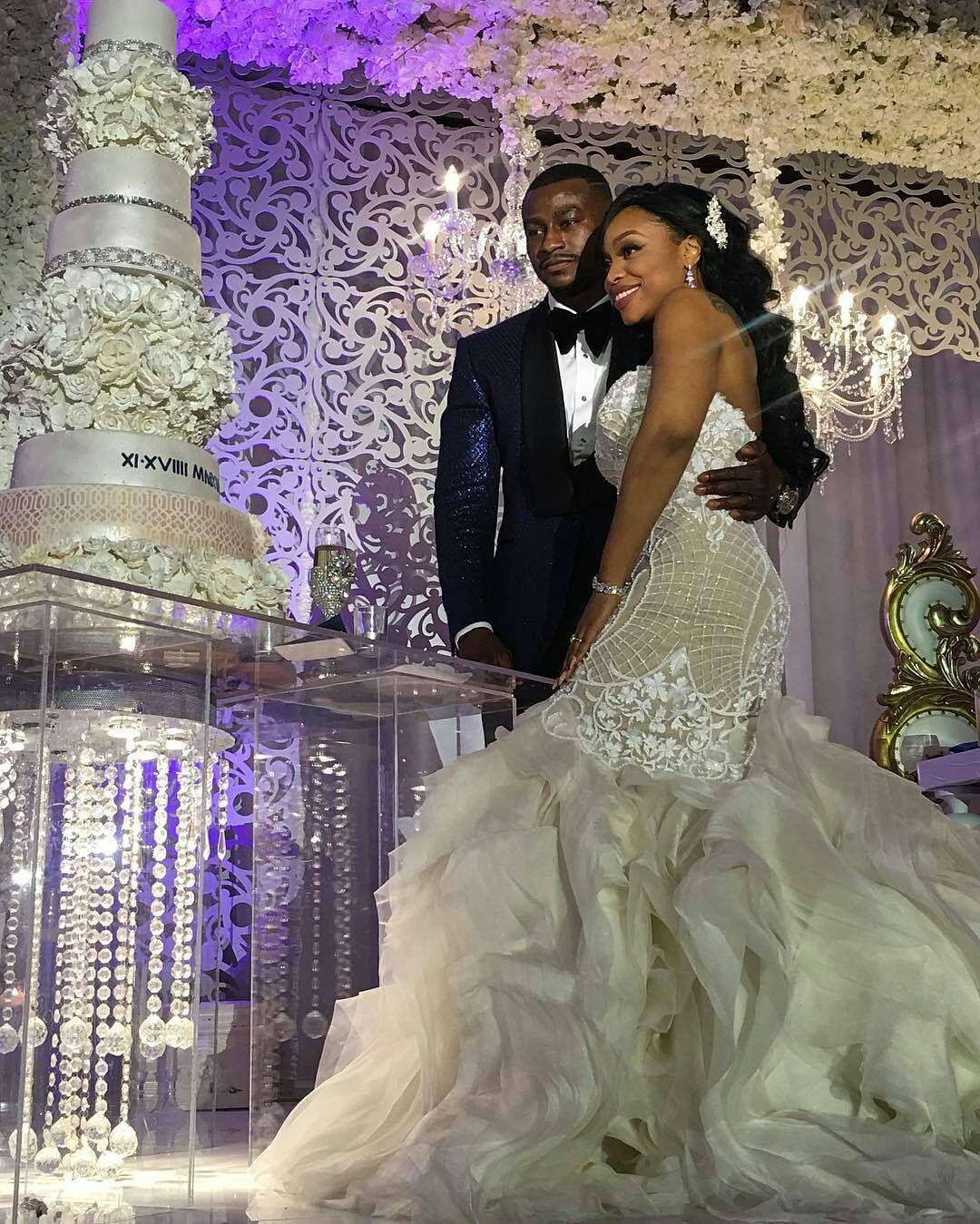 Kandi burruss wedding dress  So beautiful Via urbanluxe  ucTwo are better than oneuif either