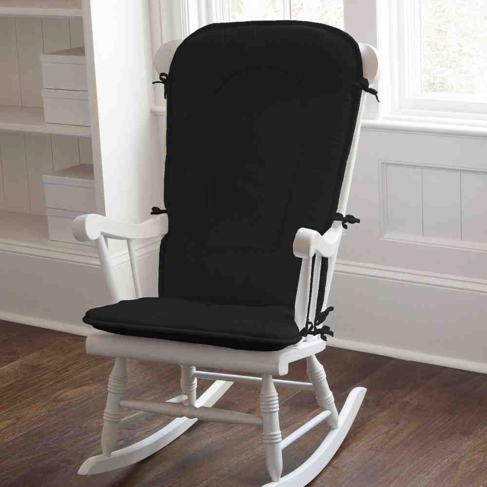 Black Rocking Chair Cushions Pads Nursery Bedroom