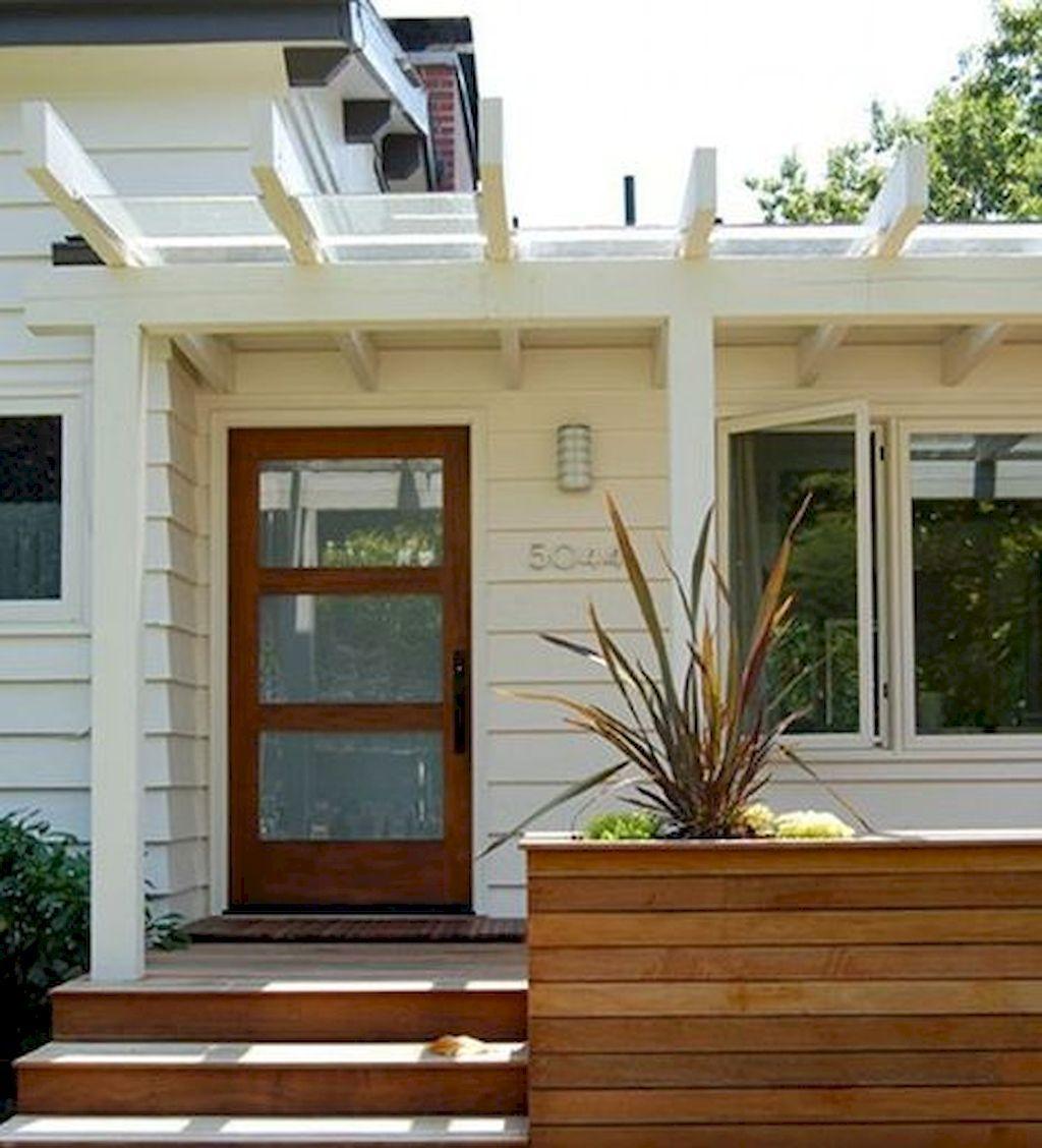 Modern Dream House Design Featuring Brown Cream Modern House Design And Impressive Entrance Door Decoration W Modern Front Porches Porch Design Entrance Design