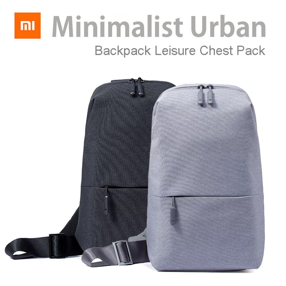 Original Xiaomi Minimalist Urban Backpack Leisure Chest Pack Preppy Backpacks 4l Capacity Women