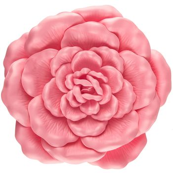 Pink Wild Rose Wall Decor Large Flower Wall Decor Rose Wall