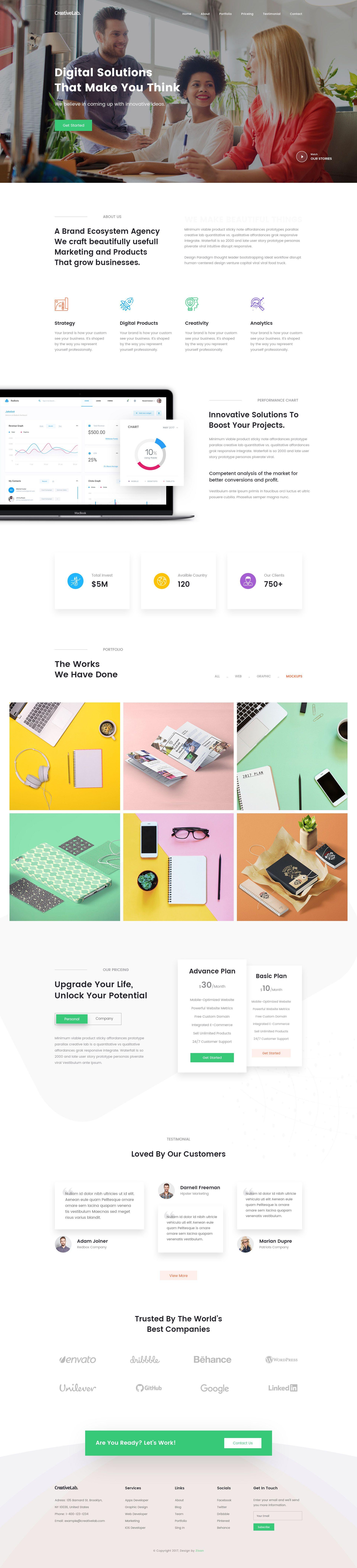 Lab Web Page Web Design Website Design Page Design
