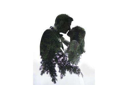 Double Exposure Wedding Photo - Galiano Island elopement - Jarusha Brown Photography - http://www.jarushabrown.com/weddings/