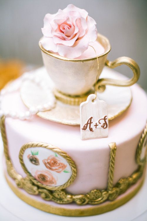 tea party bridal shower cake karimah gheddai photography