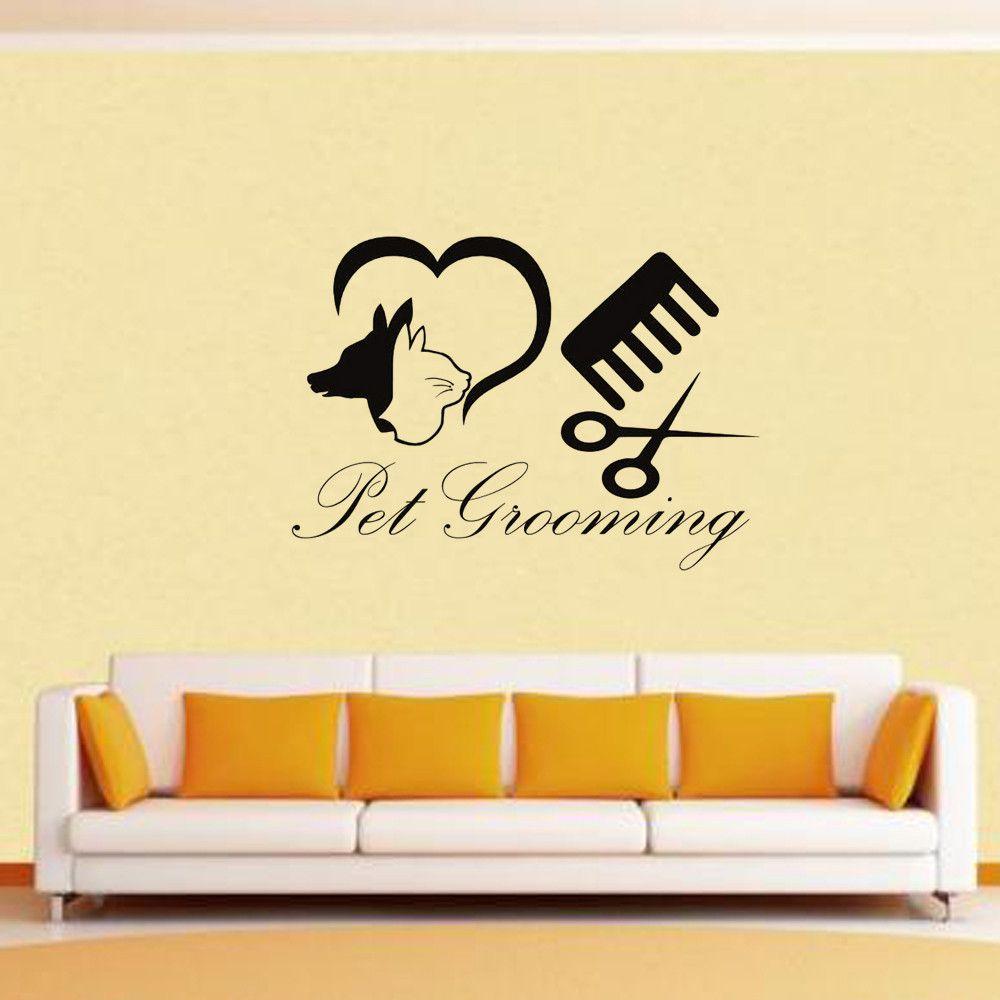 Aliexpress.com : Buy Pet Grooming Salon Dog Cat Shop Vinyl Wall ...