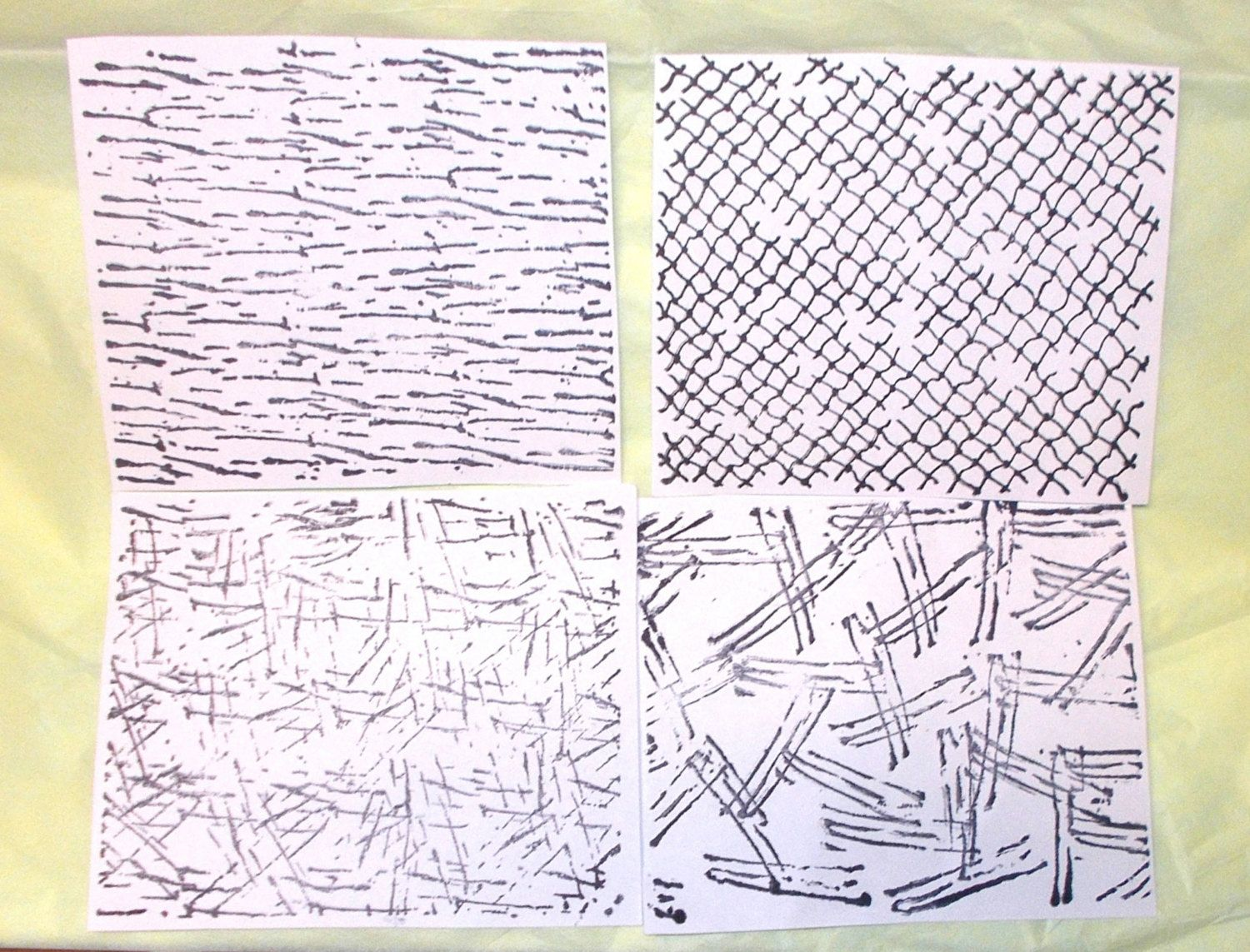 Texture backgrounds rubber stamp sheet scratch wire collage mixed ...