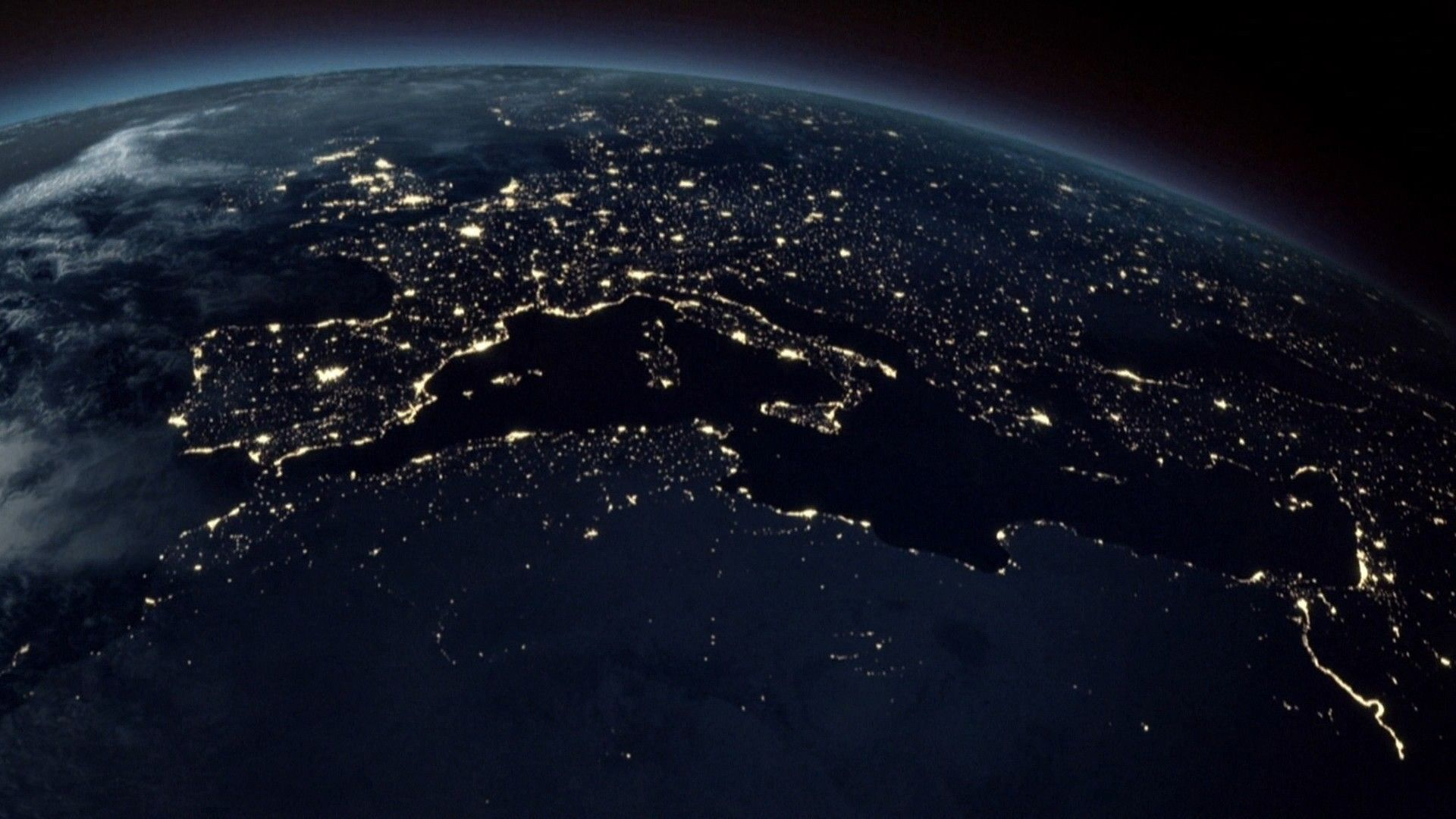 Earth from space hd astronomy earth at night from space - Earth hd images from space ...