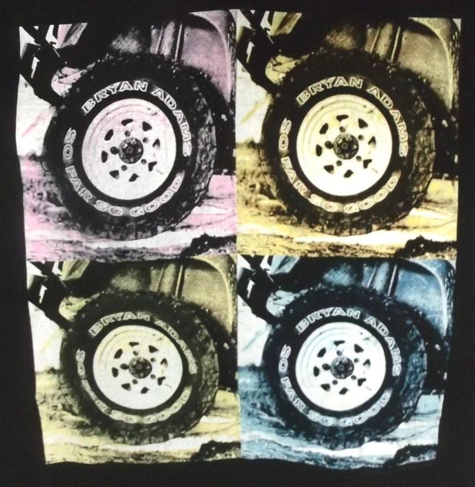 Black t shirt xl - Vintage Bryan Adams So Far So Good 1994 Xl Black T Shirt Giant Graphictee