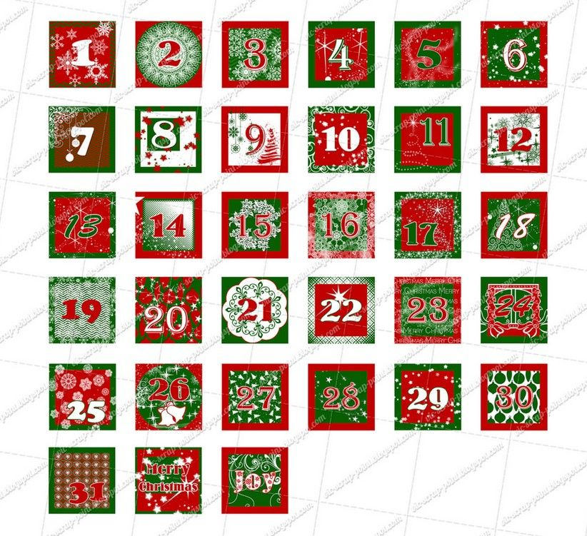 Advent Calendar Numbers Template Templates Pinterest Advent