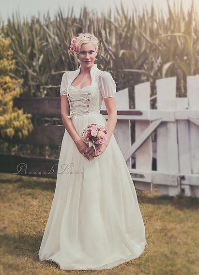 Hochzeitsdirndl Designer Farben Accessoires