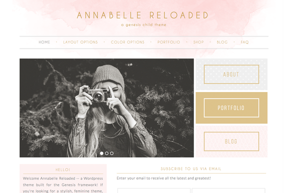 Annabelle Reloaded Genesis Theme by dinosaurstew on @creativemarket ...