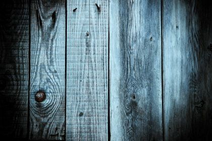 Blue Vintage Wood Planks Background Closeup Pine Wall Carpentry Retro