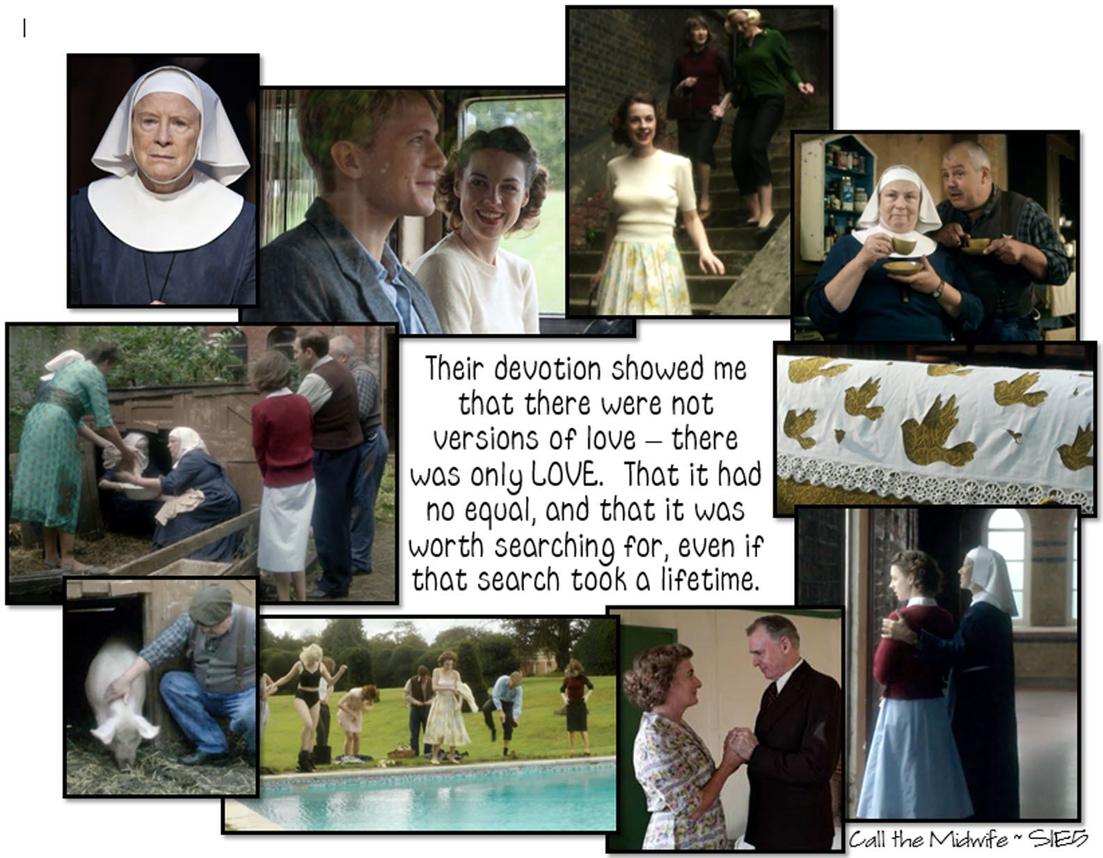 Call the Midwife season 1..... Episode 5 Collage Quote NZ