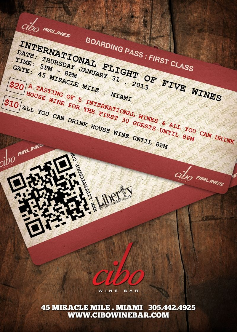 Now Boarding For The International Flight Of Five Wines Wines Miracle Mile Wine Bar
