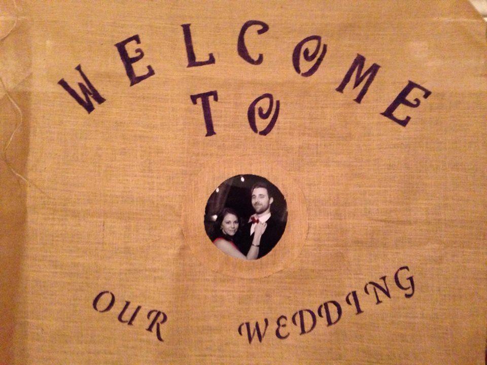 Big wedding sign