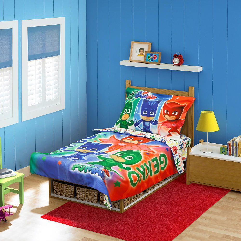 PJ Masks Bed in Bag Reversible Bedspread & Sheet Set Kids