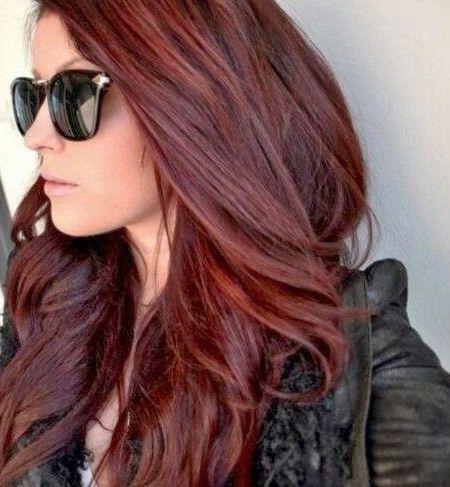 Neue Haarfarben 2016 Haare Haare Rotbraun Haarfarben Und