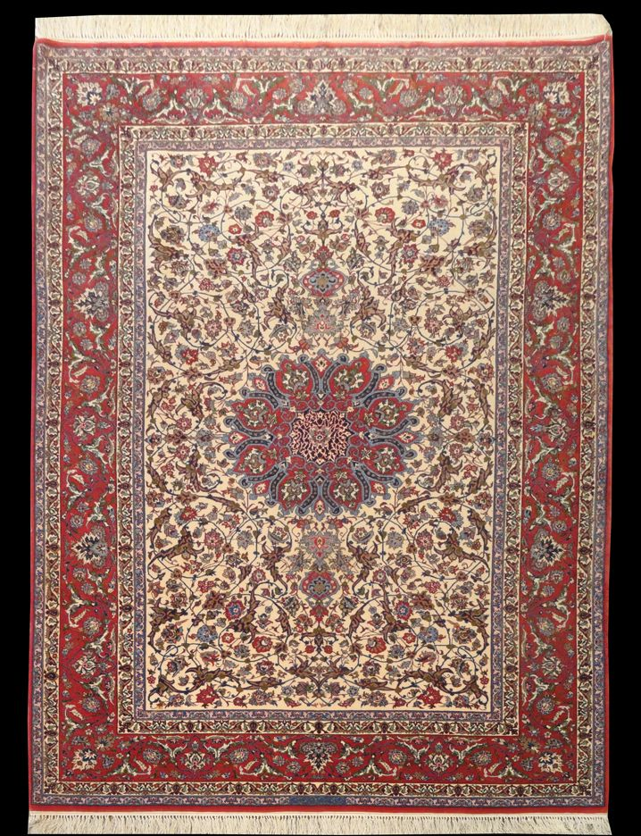 Woodlands Oriental Rug Gallery Persian Esfahan Signed And