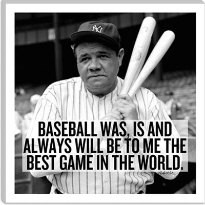 Babe Ruth Quotes Babe Ruth Quote Icanvasart  Sports  Pinterest  Babe Ruth Quotes