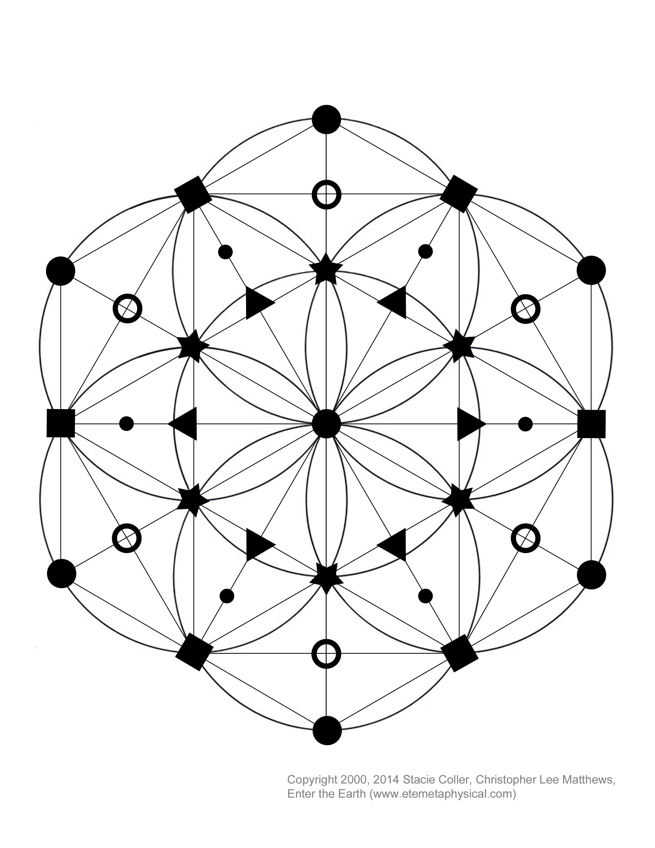 Interested in making a crystal grid? This is a Seed of Life based ...