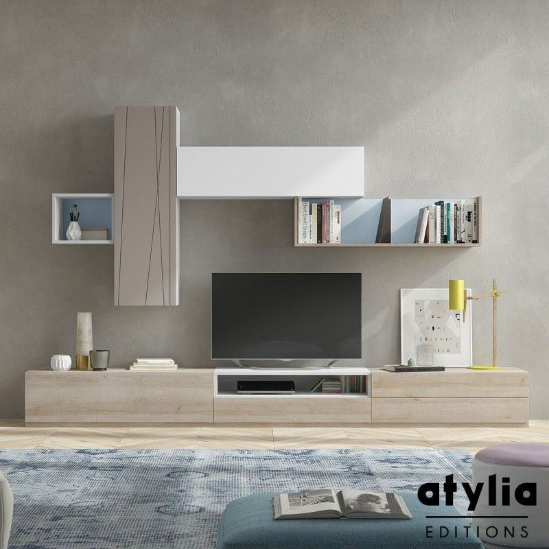 Meuble TV scandinave Jueva ATYLIA Editions Besta 1 Pinterest