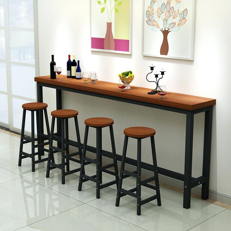 Halve Table And Bmch Attcahd To Fence Awesome Interior Wall Bar