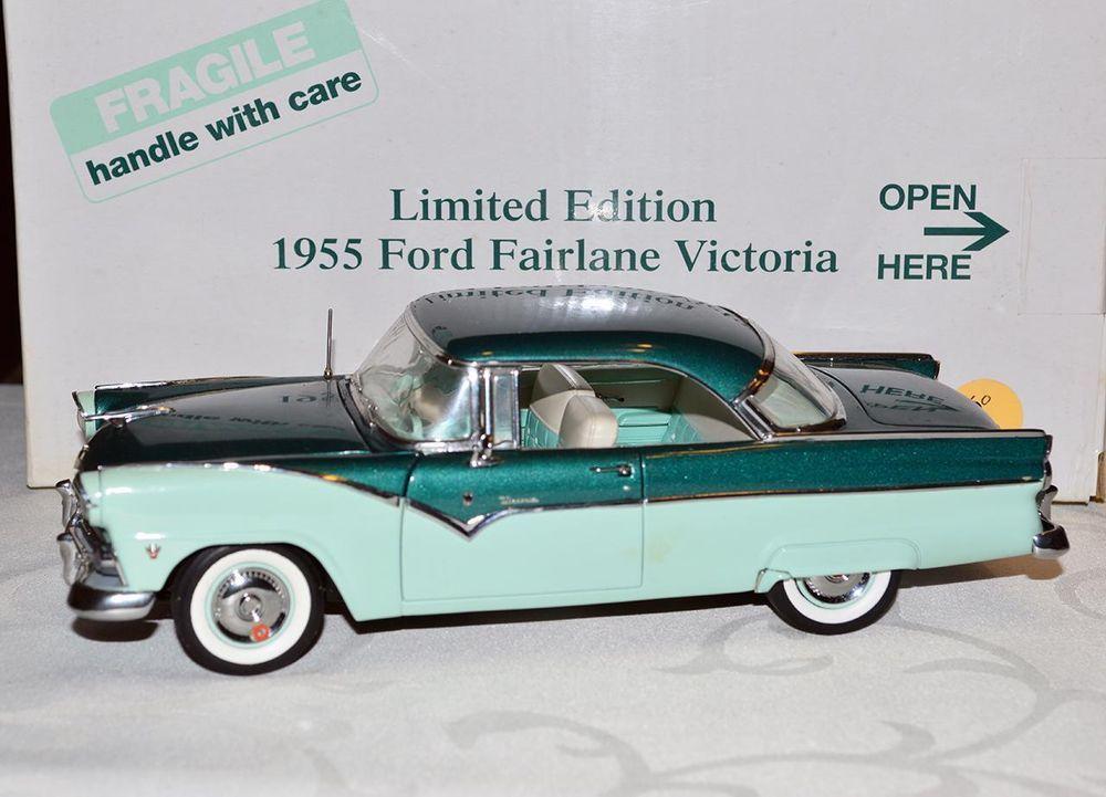 Danbury Mint 1 24 Car 1955 Ford Fairlane Victoria Hardtop 2 Tone Green Limited Danburymint Ford Ford Fairlane Fairlane Ford