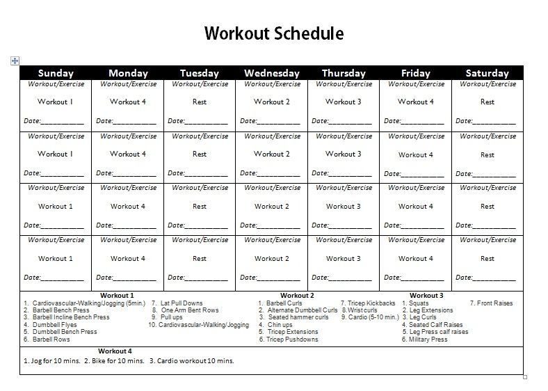 Related image workout Pinterest Workout schedule, Gym - work schedule