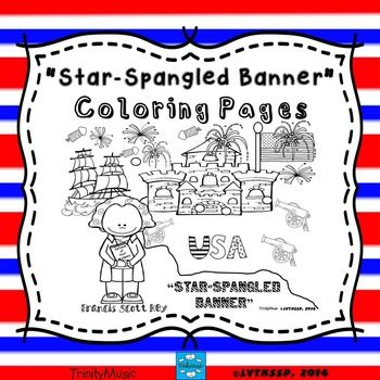 star spangled banner coloring pages - photo#12