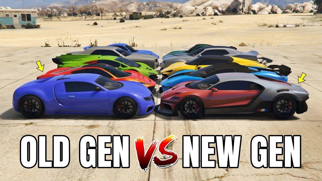 Gta 5 Online Old Gen Cars Vs New Gen Cars Which Is Fastest Gta 5 Gta 5 Online Gta