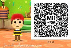 The Cutest Mii Ness I Ve Seen Sadly Not The One In My Game Use This Cutie Coding Qr Code Life