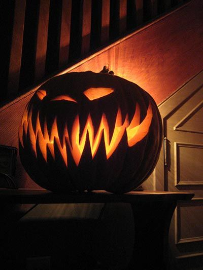 halloween pumpkin carving -- this would be an easy diy with a lot of patience