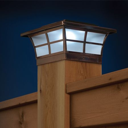 Prestige Solar Post Cap Light Copper For 4x4 Posts 51 Each