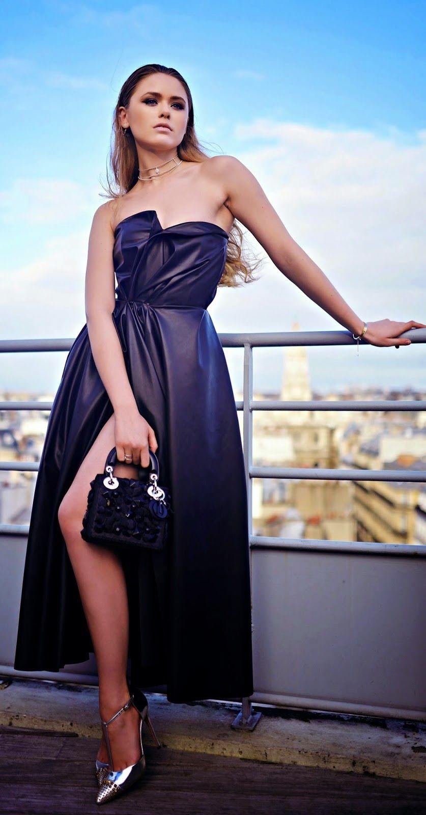 Black Leather Dress , Sexy Killer Shoes , Gorgeous Handbag