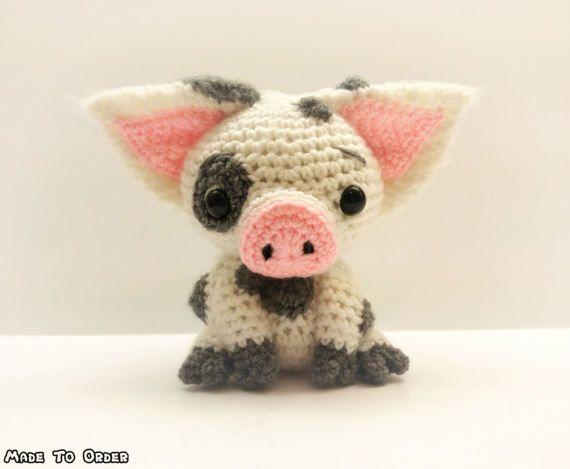Crochet Pua / Pig Plush (Inspired by Disney\'s Moana) (Inspired / Fan ...